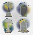 Tombstones Old Graveyard Object set vector image