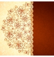 Lacy vintage flowers background vector image vector image