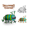 Halloween Monsters spooky elements set EPS10 file vector image vector image