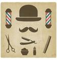 barber old background vector image