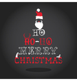 Christmas Typography Retro Card vector image vector image