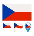 czech republic country flag vector image