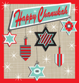 retro chanukah card vector image vector image