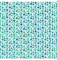 Green dotted and circular seamless pattern vector image