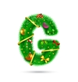 Fir tree decorative letter vector image