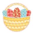 easter basket on white vector image vector image