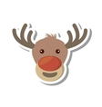 christmas reindeer character isolated icon vector image