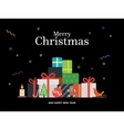Gift boxes bunch and christmas balls candy vector image
