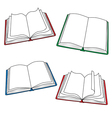Open books vector image