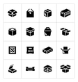 Set icons of box vector image