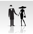 silhouettes of lady and gentleman vector image