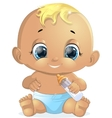 small baby with a bottle vector image