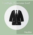 vintage business suit or tuxedo suit vector image