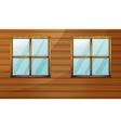 Wooden cabin vector image vector image