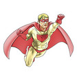 superhero comicbook style vector image vector image