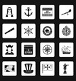columbus day icons set squares vector image
