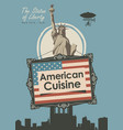 banner for a restaurant american cuisine vector image