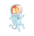 male cosmonaut or astronaut in a white space suit vector image