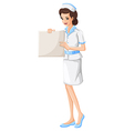 A nurse holding a vacant chart vector image