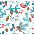 Merry Christmas seamless pattern with winter vector image