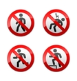 set prohibited signs - man vector image vector image