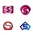 Letter S logo icon design template elements vector image