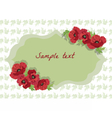 Card with Poppy flowers vector image