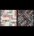 coffee pattern with text in retro style coffee vector image