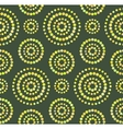 Dots circles seamless pattern on green vector image