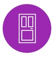 Front door line icon vector image