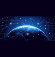 Global network background vector image