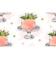 hand drawn cute birthday or wedding vector image