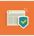 Internet security protection symbol browser vector image