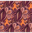 Seamless cartoon hand-drawn pattern with flowers vector image