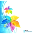Bright shining flowers background vector image vector image
