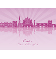 Exeter V2 skyline in purple radiant orchid vector image
