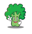 Have an idea broccoli chracter cartoon style vector image