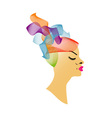 Abstract Hairstyle vector image vector image