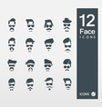 Face with Mustaches vector image