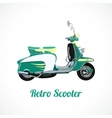 Riding scooter symbol vector image