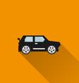 Car icon 2 Long Shadow vector image
