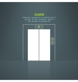 modern building steel elevator with vector image