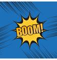 Boom comic book cartoon template vector image