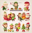 Christmas elves vector image