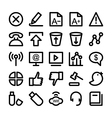 Communication Icons 6 vector image