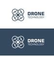 drone logo template vector image