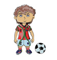 Football Player with Soccer Ball vector image