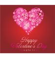 Happy valentines day art vector image