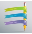 Infographic with pen and ribbon vector image