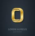 Letter O elegant gold font Template for company vector image